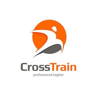 Szablon logo sportowego biegania