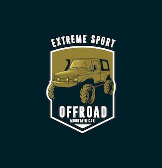 Szablon logo sportu offroad