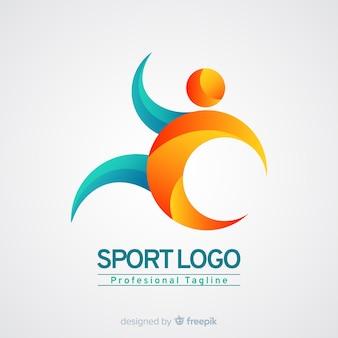 Szablon logo sportu z abstrakcyjnych kształtów