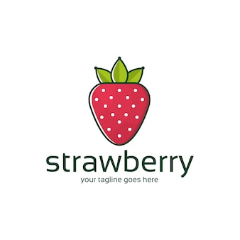 Szablon logo strawberry king