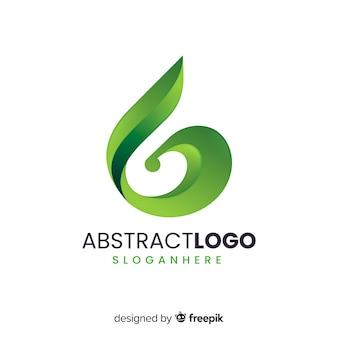 Szablon logo streszczenie gradientu