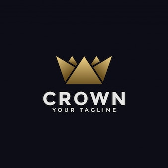 Szablon logo streszczenie korony