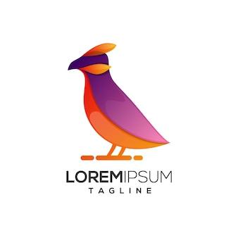 Szablon logo streszczenie ptak