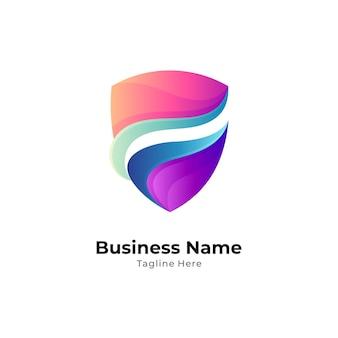 Szablon logo streszczenie tarczy