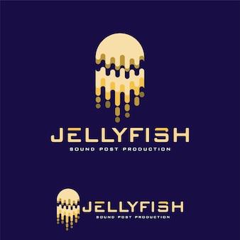 Szablon logo streszczenie wektor jellyfish