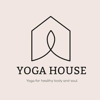 Szablon logo studio jogi, wektor projektu marki zdrowia i odnowy biologicznej