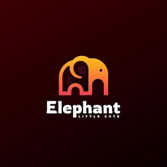 Szablon logo stylu sztuki linii słonia.