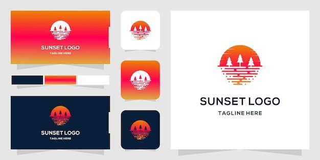 Szablon logo sunset