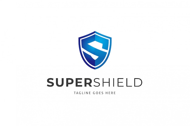 Szablon logo super shield