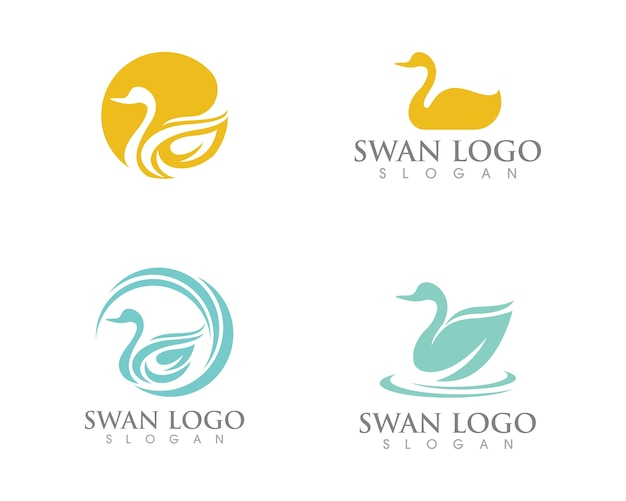 Szablon logo swan