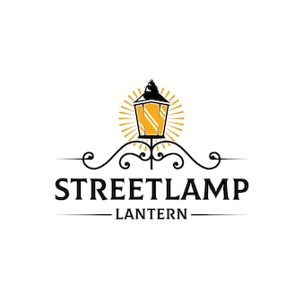 Szablon logo światła ulicznego latarni