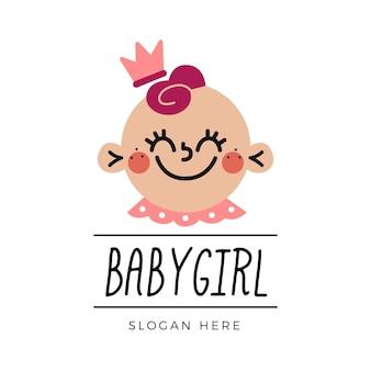 Szablon logo szczegółowe buźki dziecka