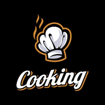 Szablon logo szefa kuchni. szablon logo piekarni