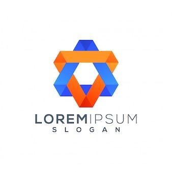 Szablon logo sześciokąta