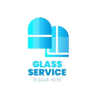 Szablon logo szkła gradientowego