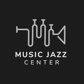 Szablon logo szkoły muzycznej, wektor projektu brandingowego biznesu rozrywkowego