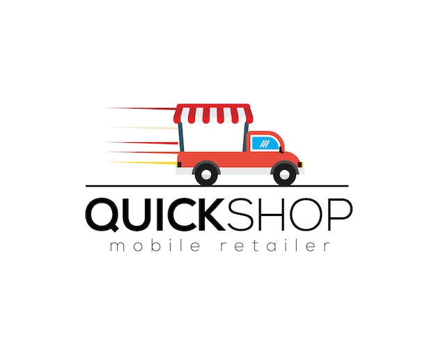 Szablon logo szybkiego sklepu