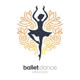 Szablon logo taniec kobiety