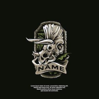 Szablon logo tatuaże triceratops