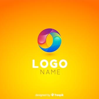 Szablon logo technologii gradientu dla firm
