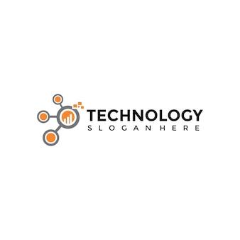 Szablon logo technologii technologii