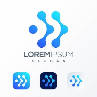 Szablon logo technologii