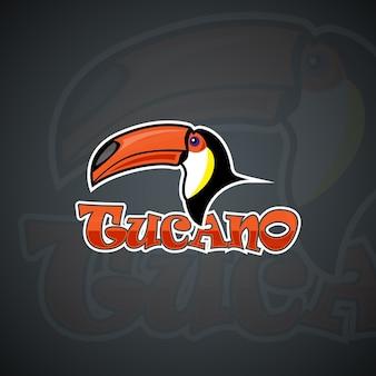 Szablon logo toucan. grafika wektorowa wysokiej rozdzielczości
