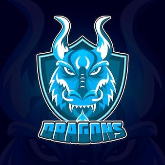 Szablon logo tożsamości korporacyjnej maskotka sportowa