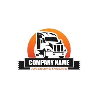 Szablon logo transportu ciężarowego