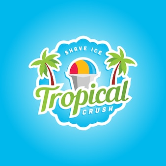 Szablon logo tropical crush ice cream