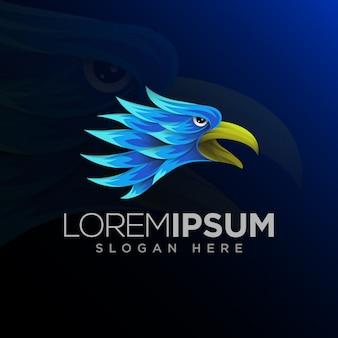 Szablon logo twarz orła