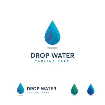 Szablon logo upuść wodę