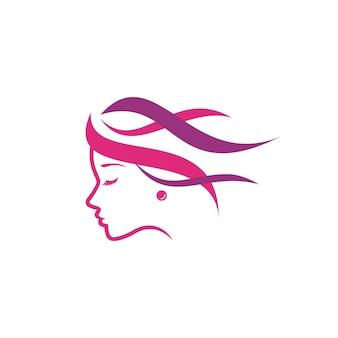 Szablon logo uroda i fryzura