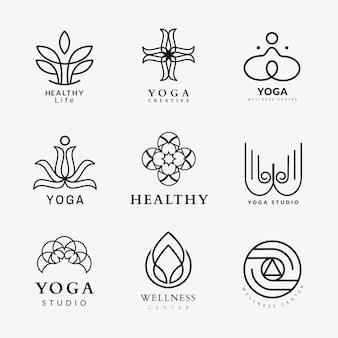 Szablon logo urody spa, profesjonalny projekt zestawu wektorów biznesowych dla zdrowia i odnowy biologicznej