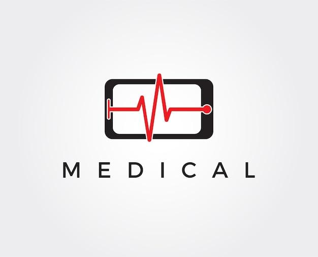 Szablon logo usługi naprawy telefonu skrzyżowanie telefonów z cieniem na tle heksadecymalnym