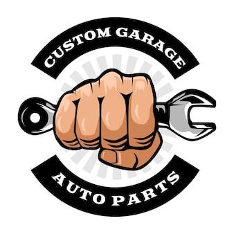 Szablon logo warsztatu mechanika
