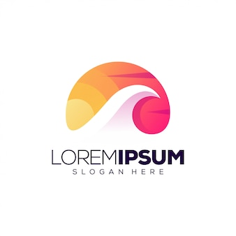 Szablon logo wave