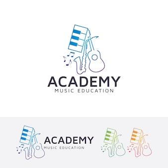 Szablon logo wektor akademia muzyczna