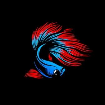 Szablon logo wektor betta ryb