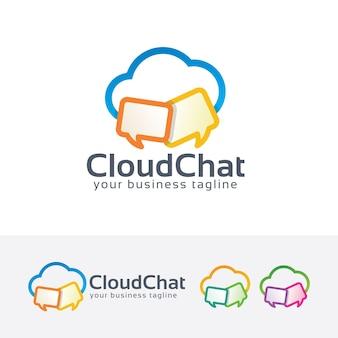 Szablon logo wektor czat w chmurze