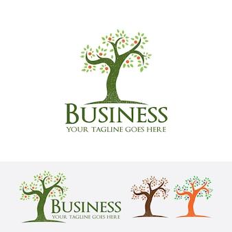 Szablon logo wektor drzewo biznesowe