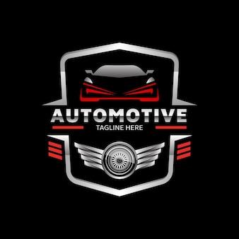 Szablon logo wektor emblemat samochodu sportowego samochodu