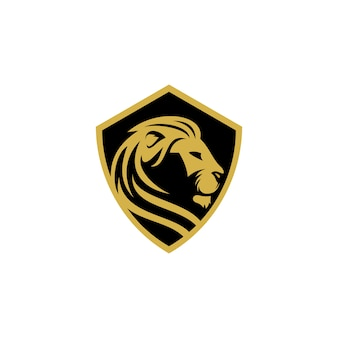 Szablon logo wektor lew