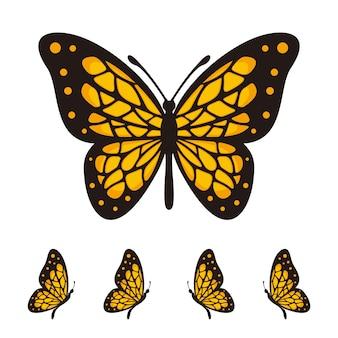 Szablon Logo Wektor Motyla Premium Wektorów