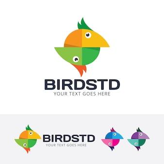 Szablon logo wektor ptak studio