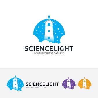 Szablon logo wektor światło nauki