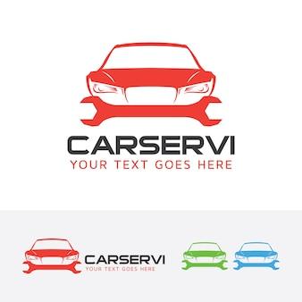 Szablon logo wektor usług samochodów