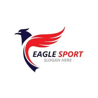 Szablon logo wektorowego projektu skrzydła orła