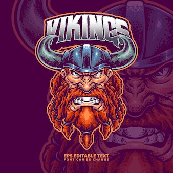Szablon logo wikingów