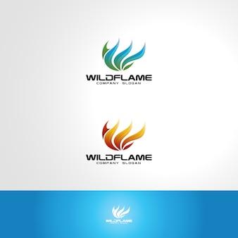 Szablon logo wild flame